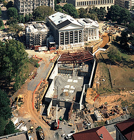 The Capitol grounds under full construction in 2007