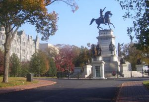 View of Capitol Square; Equestrian Monument