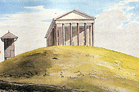 Benjamin Latrobe's 1797 watercolor of the Capitol