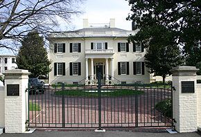 The Executive Mansion located on the Capitol grounds