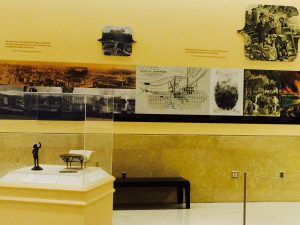 Educational exhibits on display in the Capitol extension