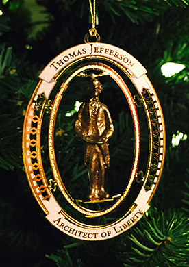The new 2016 Thomas Jefferson ornament