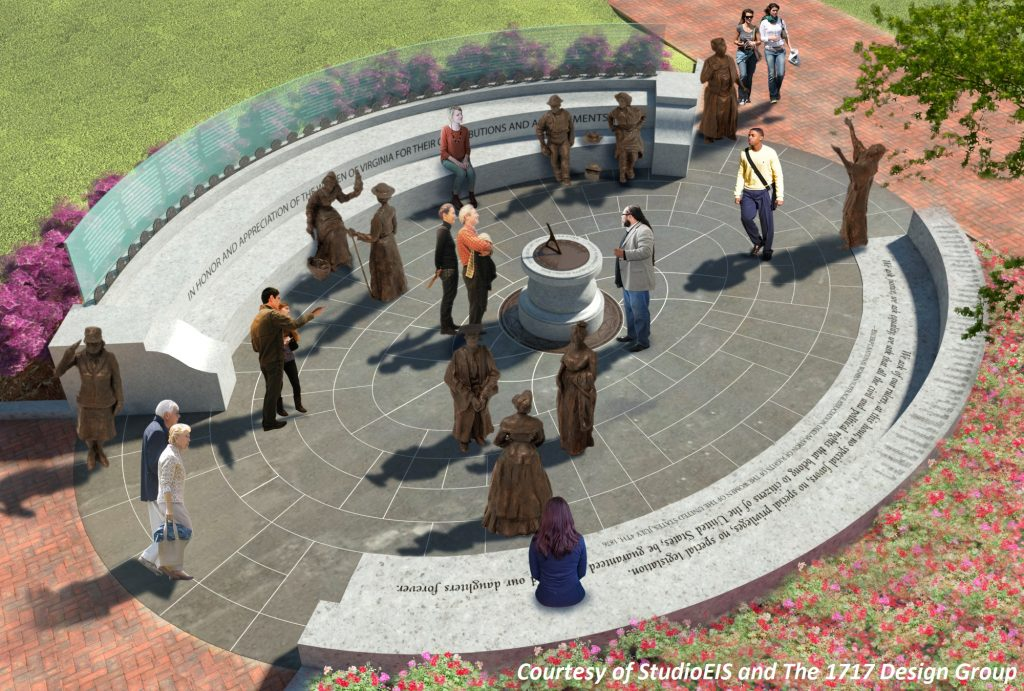Artist Rendering of the Virginia Women's Monument - Copyright-StudioEIS-and-The-1717-Design-Group