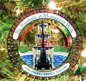 "The new 2017 ""The Fountain at Monument Walk"" ornament"