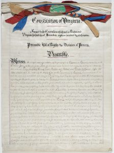 The preamble developed by the Constitutional Convention in Richmond - Imaged at Library of Virginia, Photo & Digital Imaging Services Department August 2014