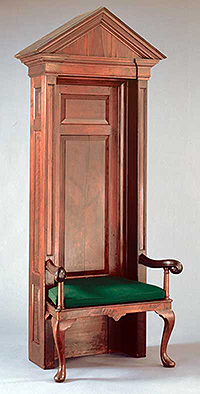 Original 1730s House Speaker's Chair on Display in the Old House Chamber