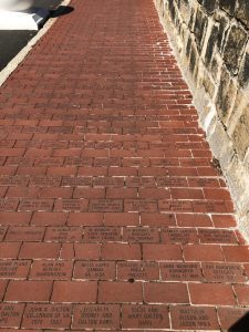 Pathway of Inscribed Bricks