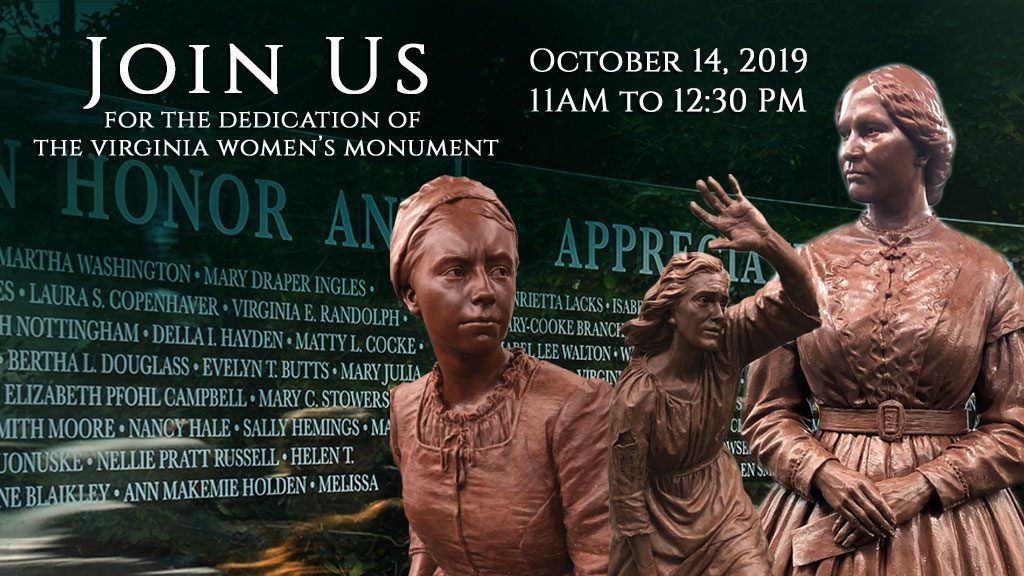 Invitation to Womens Monument Dedication