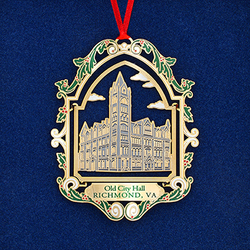 Ninth in a series of collectible ornaments, the 2020 Official Capitol Ornament celebrates Old City Hall, currently being rehabilitated on the north side of Capitol Square. It was listed on the Virginia Landmarks Register in 1968, the National Register of Historic Places in 1969, and was designated a U.S. National Historic Landmark in 1971